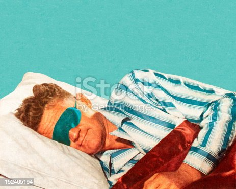 Sleeping Man Wearing Eye Mask
