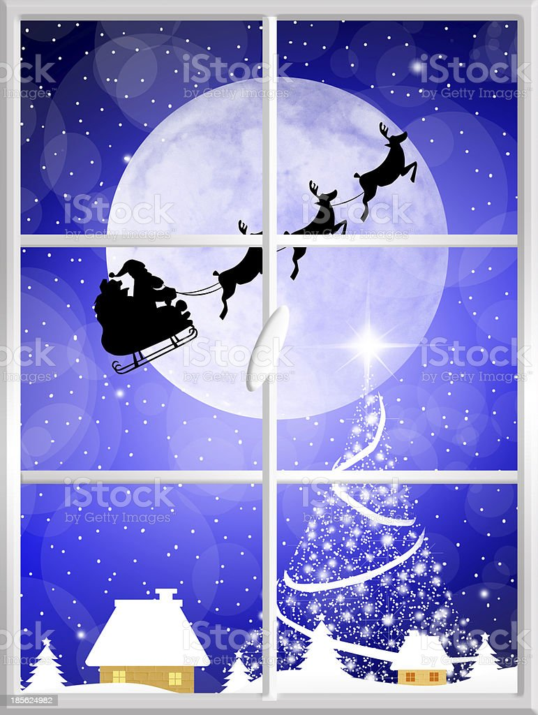 Sleigh of Santa Claus royalty-free sleigh of santa claus stock vector art & more images of 2014