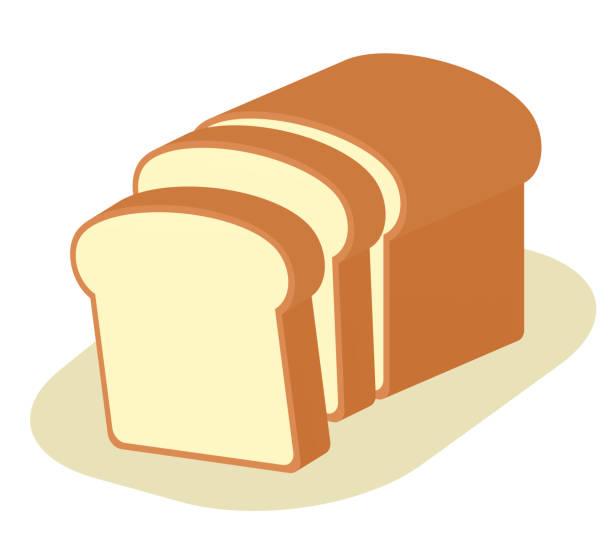 スライスされたパン - 食パン点のイラスト素材/クリップアート素材/マンガ素材/アイコン素材