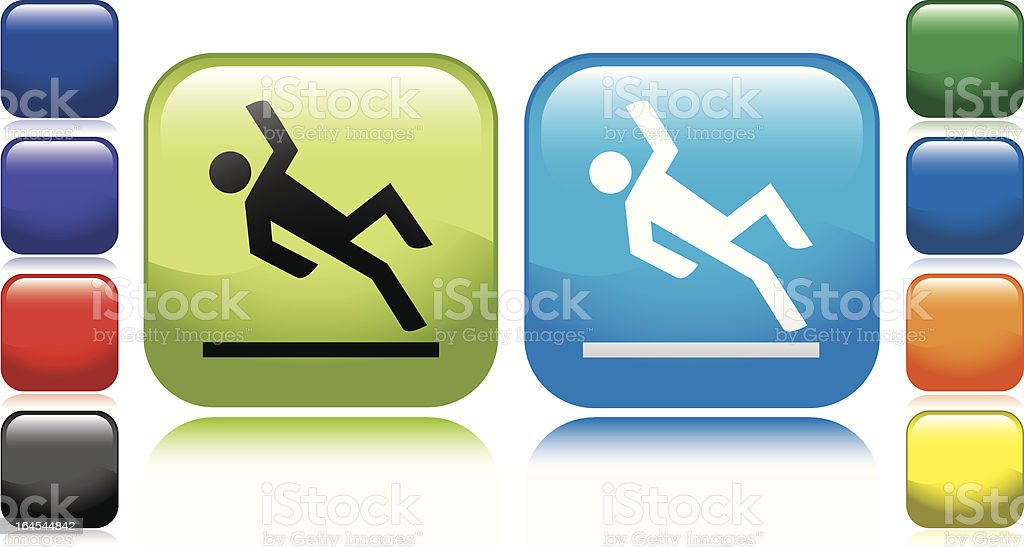 Slippery When Wet Icon royalty-free stock vector art