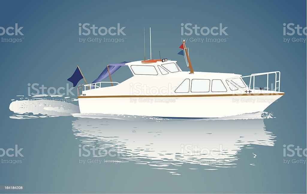 Small boat. royalty-free stock vector art