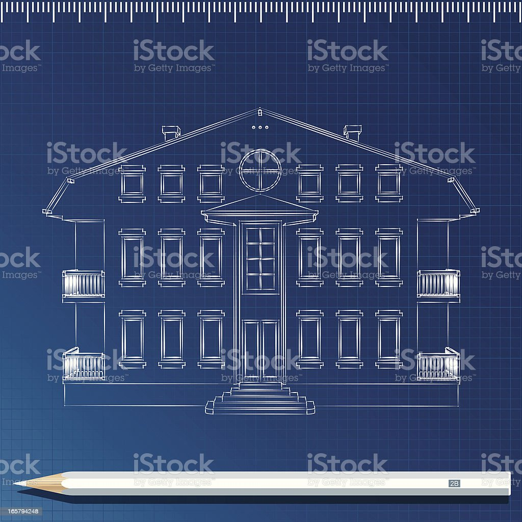 Small building sketch royalty-free stock vector art