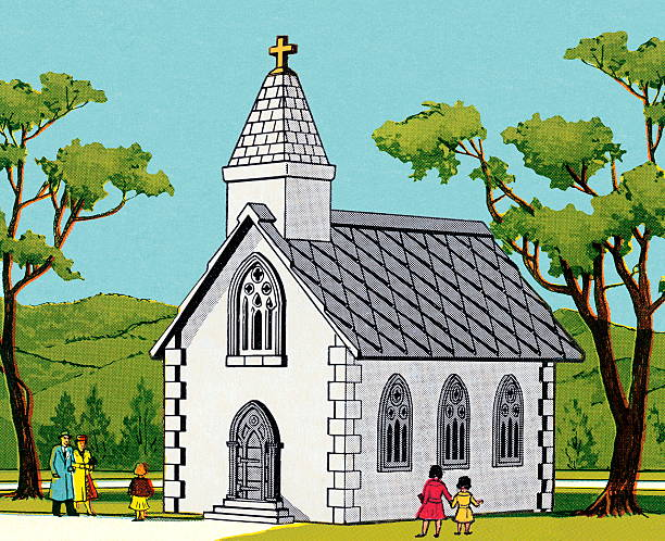 People Entering Church Illustrations, Royalty-Free Vector ...