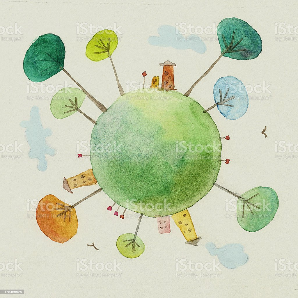 Small planet Earth royalty-free small planet earth stock vector art & more images of abstract