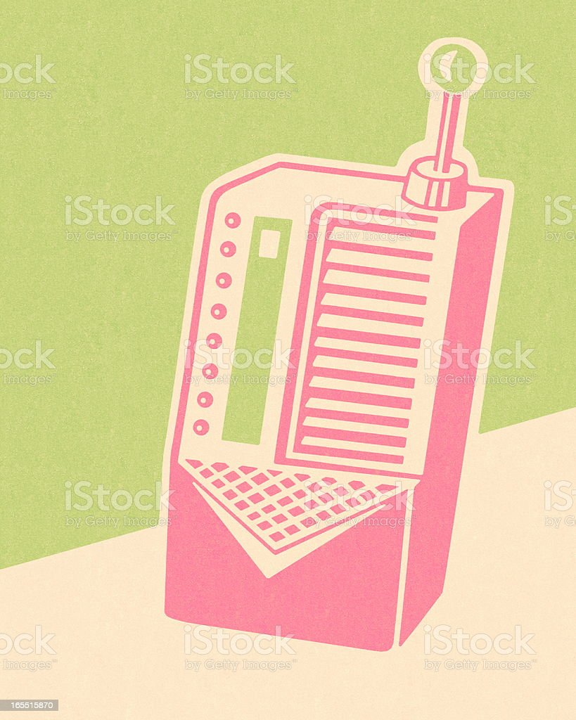 Small Radio royalty-free stock vector art