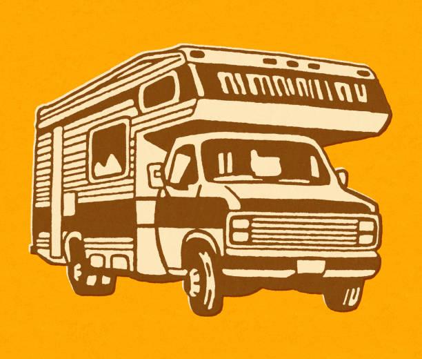 Small RV Camper Small RV Camper rv interior stock illustrations