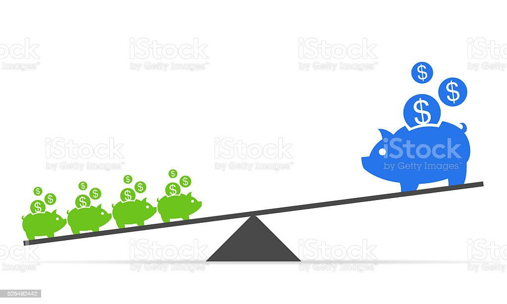 small savings to big return in long time vector art illustration