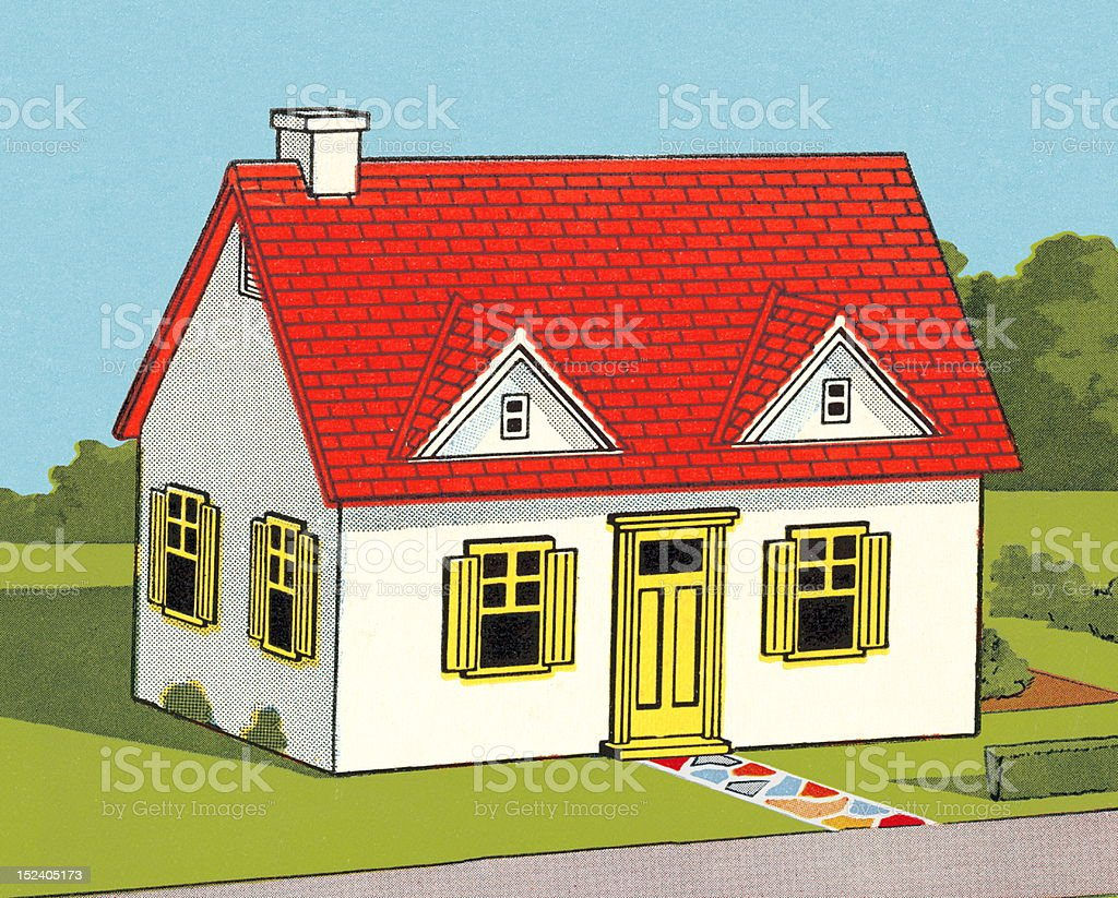 Small White House royalty-free stock vector art