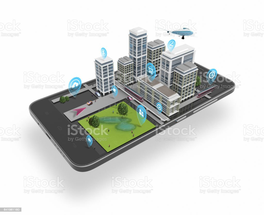 Smart-City 3d – Vektorgrafik