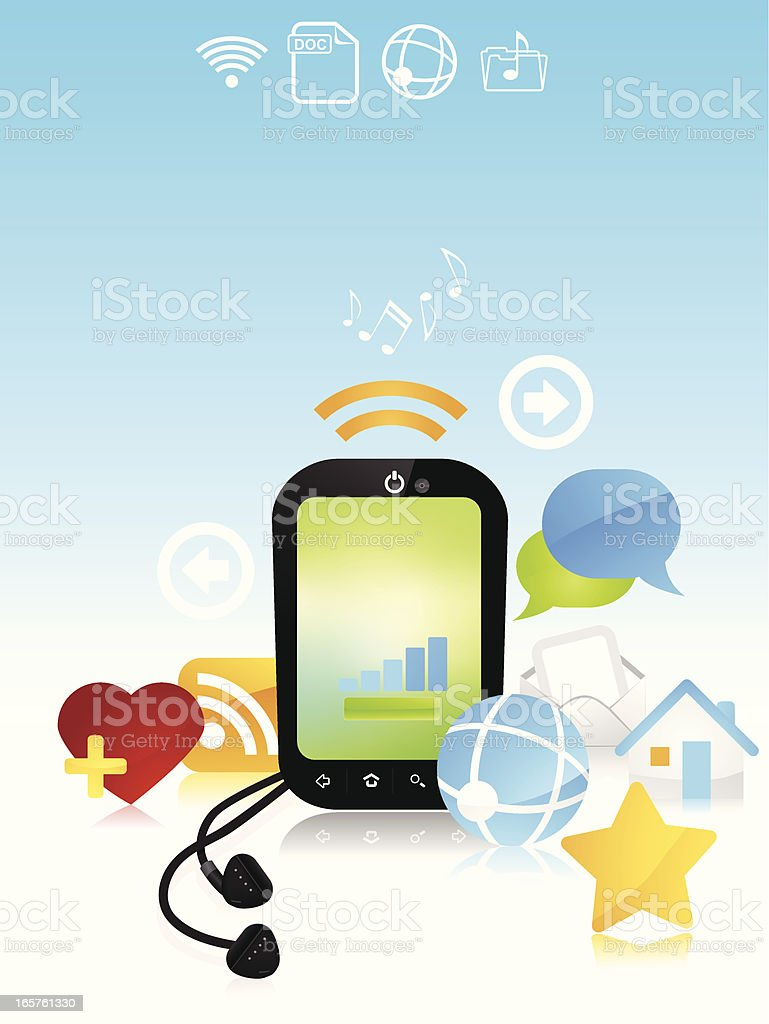 Smart phone concept royalty-free smart phone concept stock vector art & more images of arrow symbol