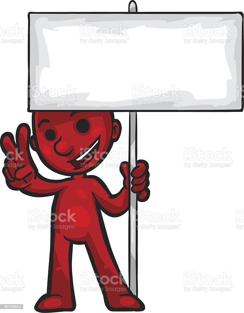 Smartoon Holding Sign Lizenzfreies smartoon holding sign stock vektor art und mehr bilder von clipart