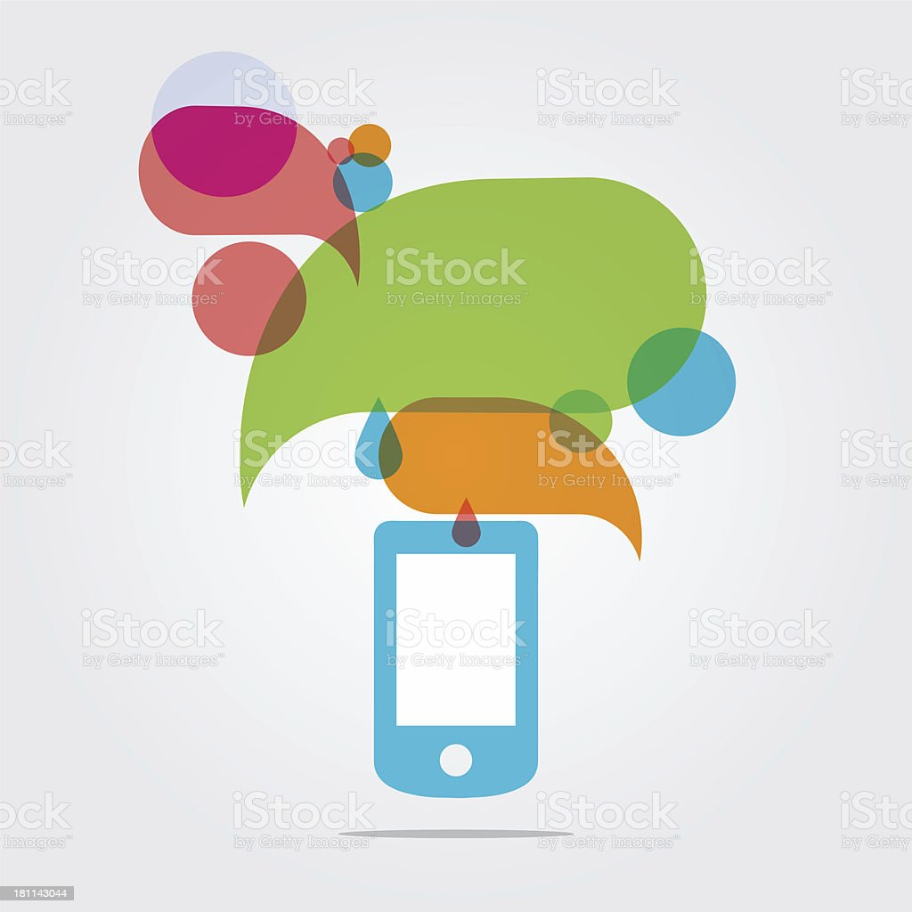 Smartphone communication royalty-free smartphone communication stock vector art & more images of abstract