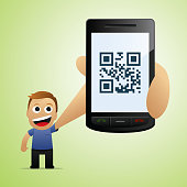 Smartphone with QR reader