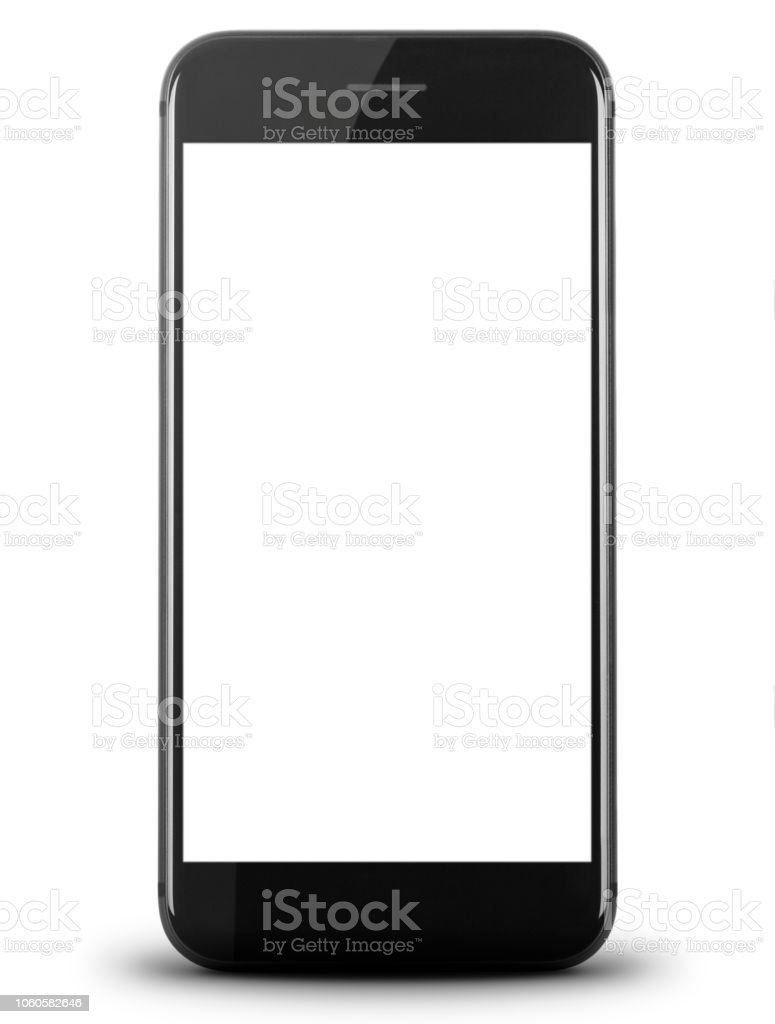 Smartphone with White Screen vector art illustration