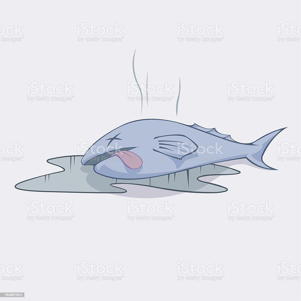 Smelly Dead Fish vector art illustration