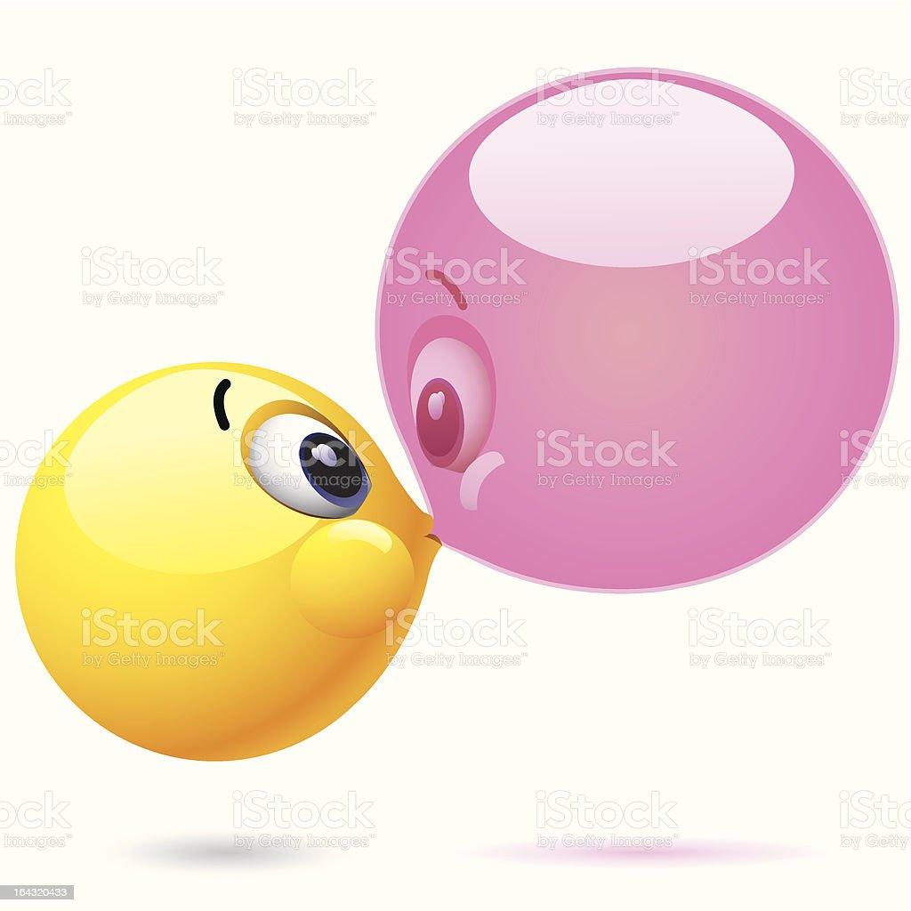 Smiley ball vector art illustration