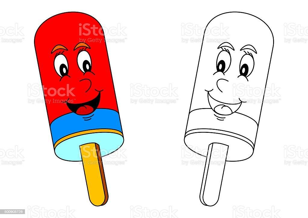 Ilustración De Sonriendo Para Colorear Lolly De Color Como Un Poco