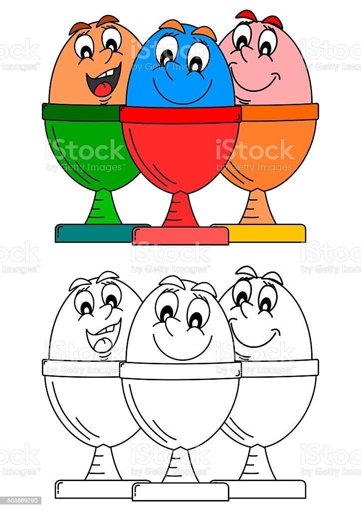 Sonriendo Huevos De Platos Como Para Colorear Books For Kids - Arte ...