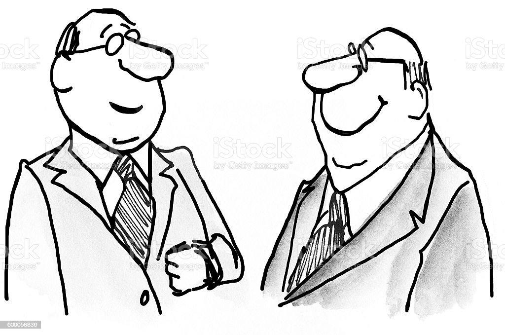 Smiling Executives vector art illustration
