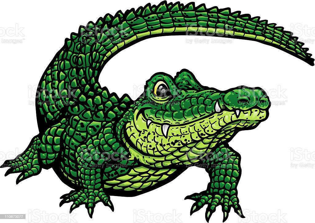 Smiling Gator G vector art illustration