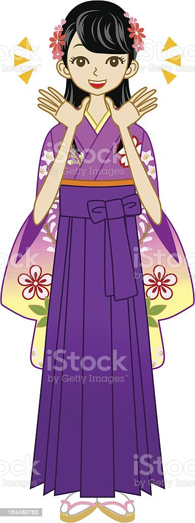 Smiling Hakama woman royalty-free smiling hakama woman stock vector art & more images of adult