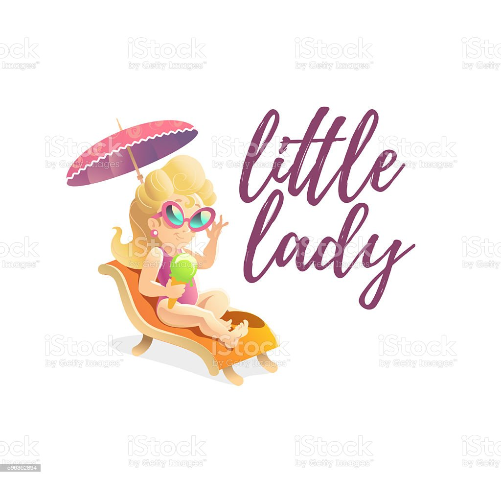 Smiling happy little girl portrait isolated. Πroyalty-free smiling happy little girl portrait isolated stock vector art & more images of art