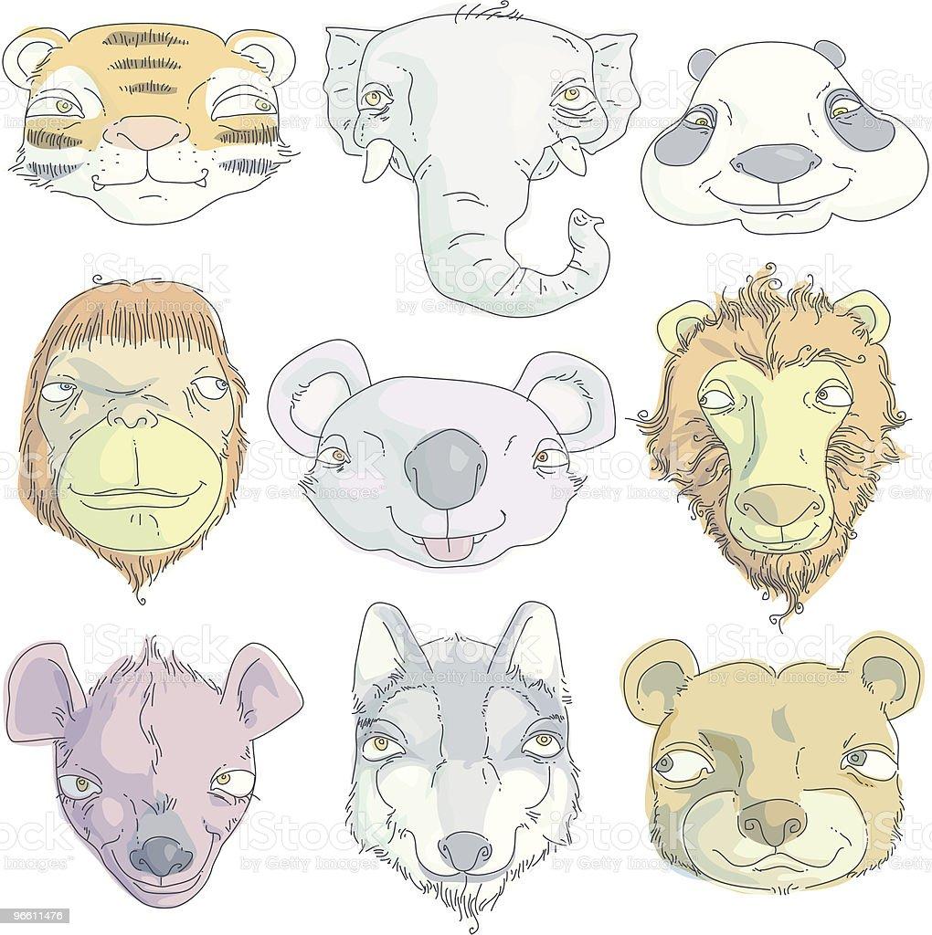 Улыбающаяся млекопитающих - Векторная графика Без людей роялти-фри