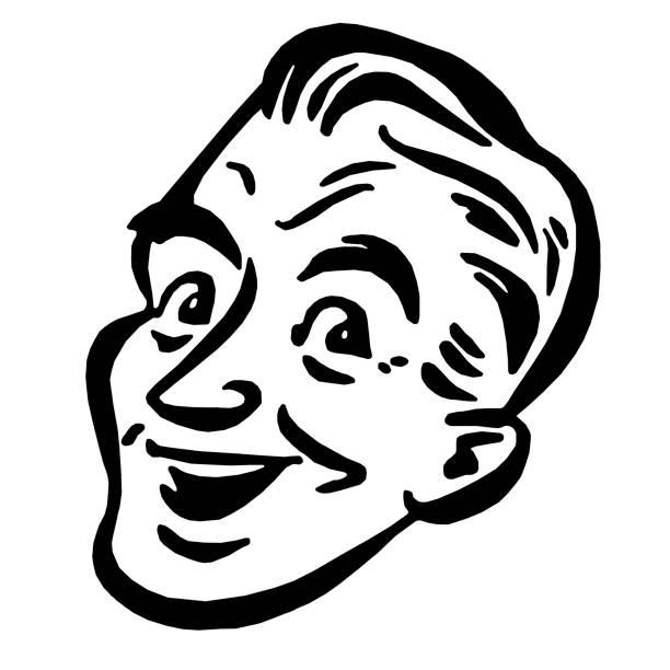 smiling man - old man clipart stock illustrations, clip art, cartoons, & icons