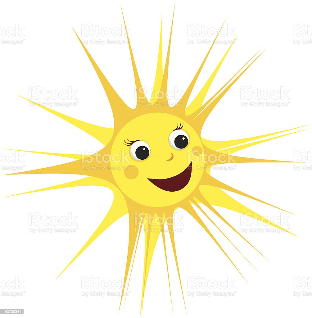 Smiling Sun - Royalty-free Anthropomorphic Smiley Face stock vector