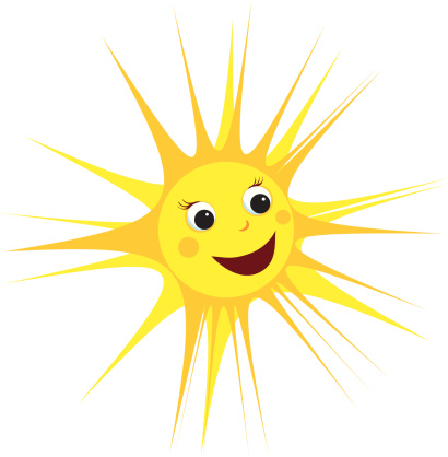 Smiling Sun Stock Illustration - Download Image Now