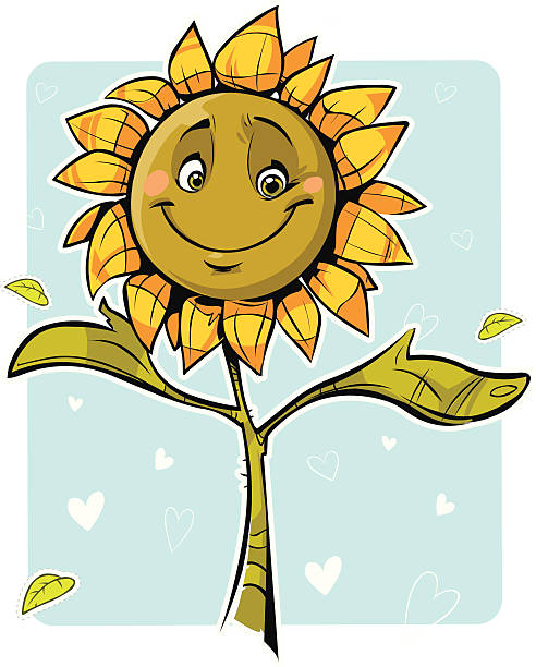 Best Smiling Sunflower Illustrations, Royalty-Free Vector ...