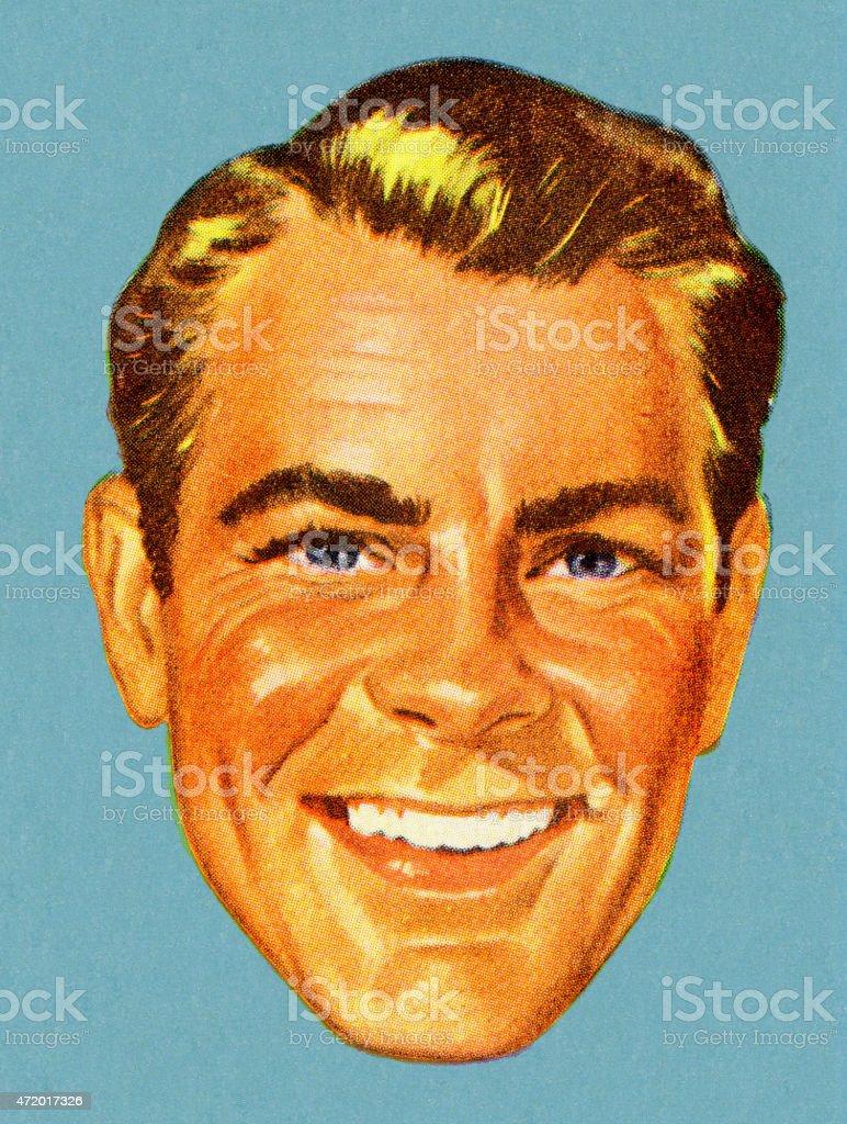 Smilng Man vector art illustration