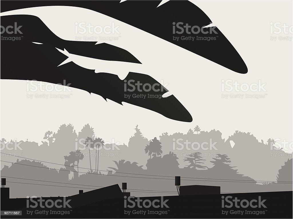 LA smog royalty-free stock vector art