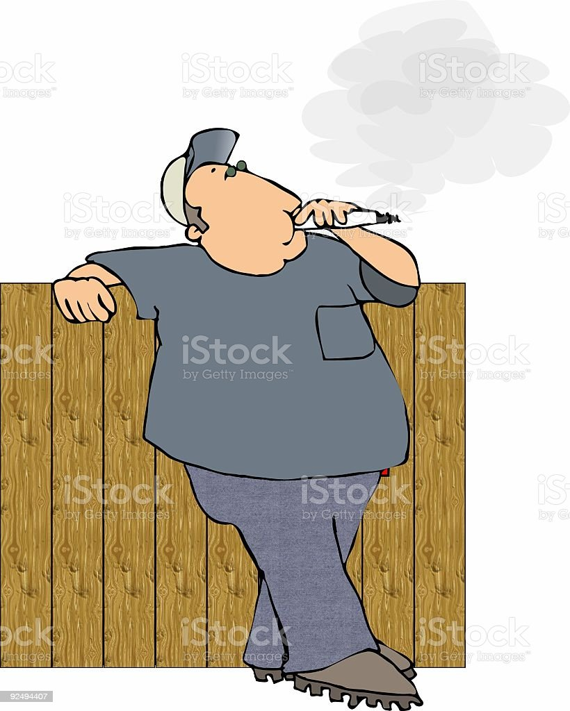 Smoker leaning on a fence royalty-free smoker leaning on a fence stock vector art & more images of adult