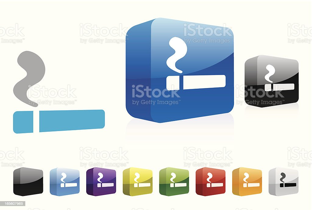 Smoking | 3D Collection royalty-free stock vector art