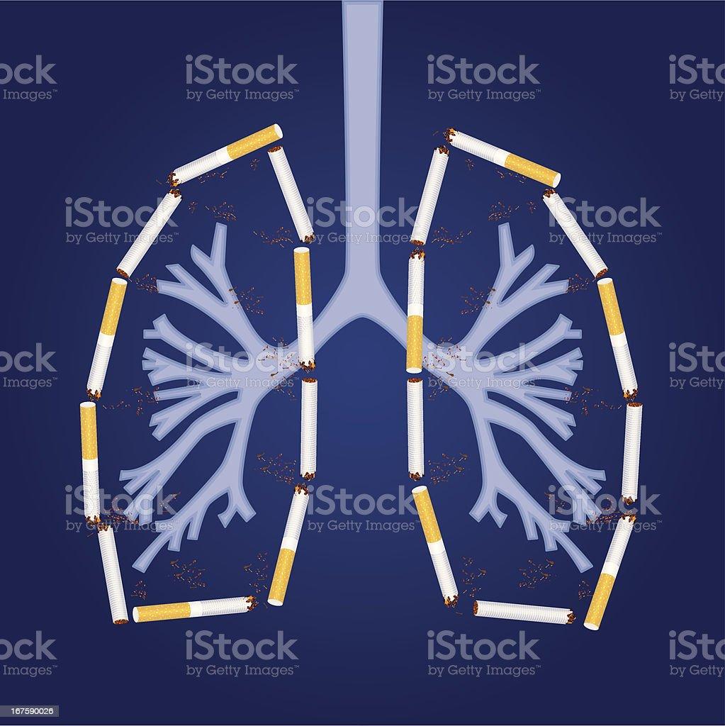 Smoking Death royalty-free stock vector art