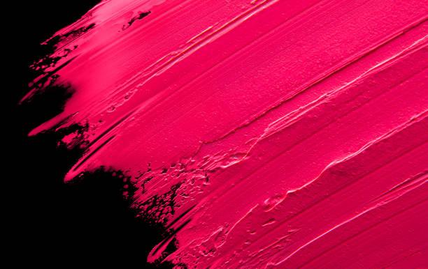 ilustrações, clipart, desenhos animados e ícones de batom borrado rosa em um fundo preto e isolado - planos de fundo borrados