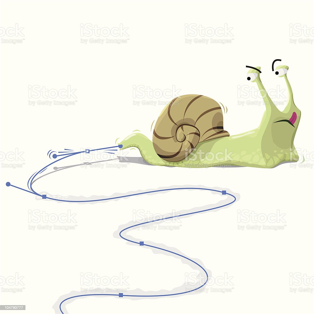 Snail vector illustrator royalty-free stock vector art
