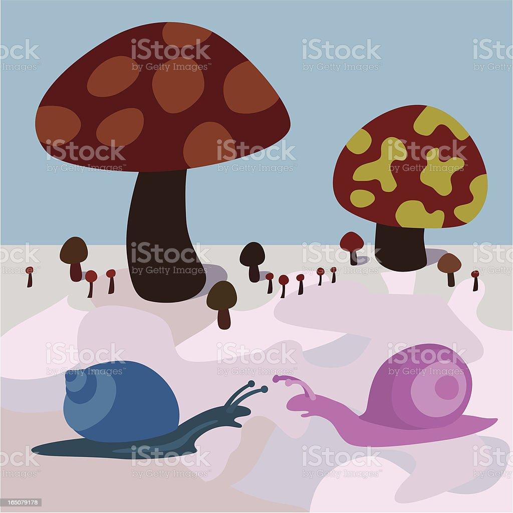 snail wonderland royalty-free stock vector art