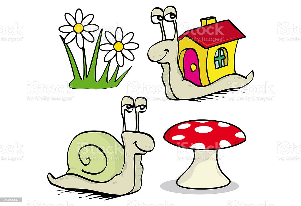Snails royalty-free stock vector art