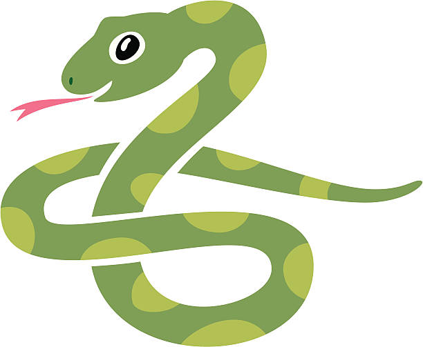 snake icon - snake stock illustrations, clip art, cartoons, & icons