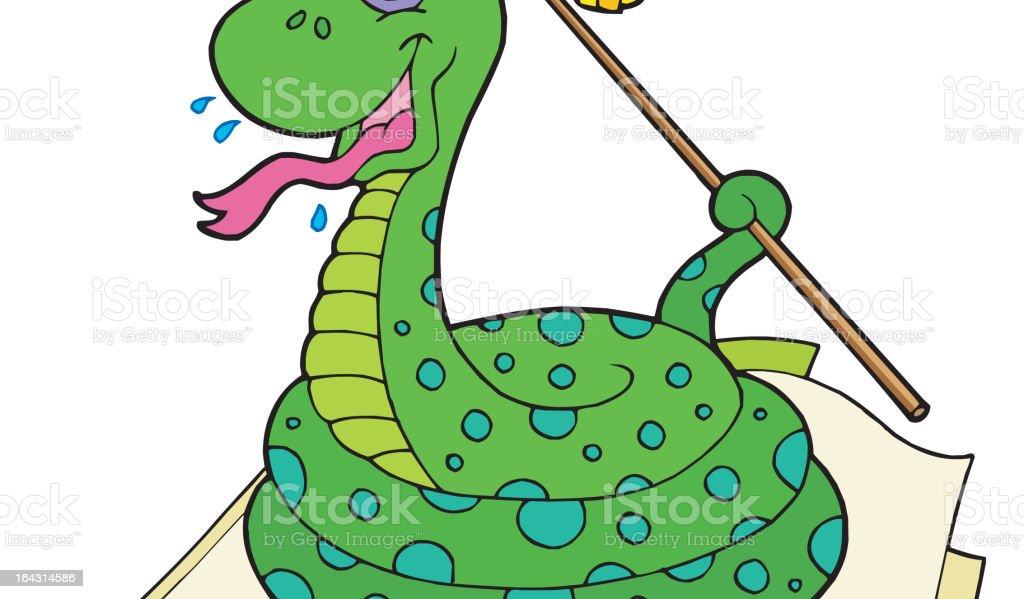 Snake teacher in open book royalty-free snake teacher in open book stock vector art & more images of animal