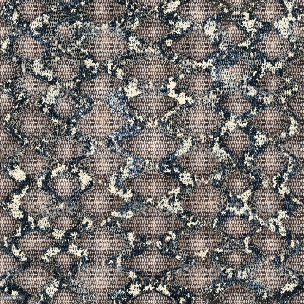 Snakeskin seamless pattern vector art illustration