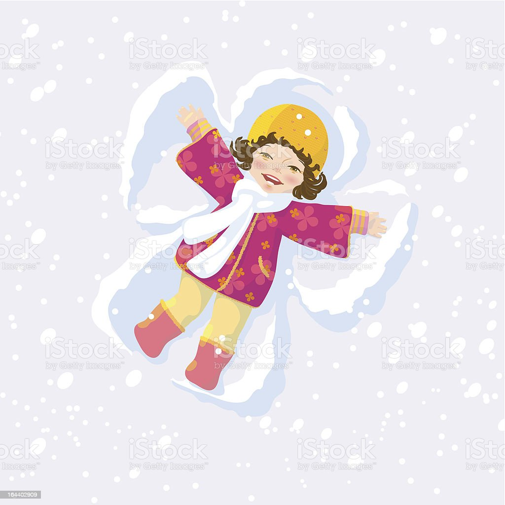 Snow angel royalty-free stock vector art