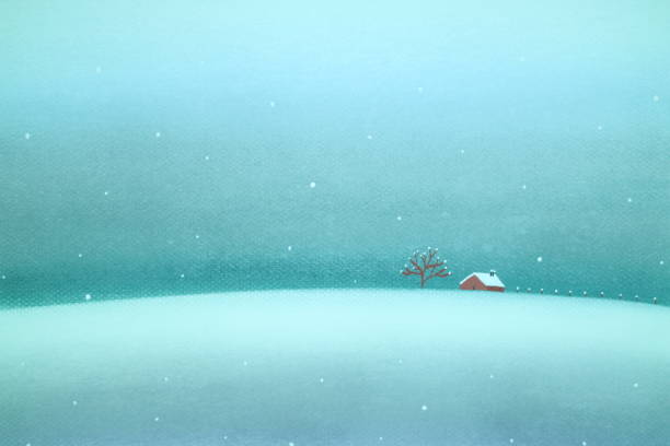 snow country vector art illustration