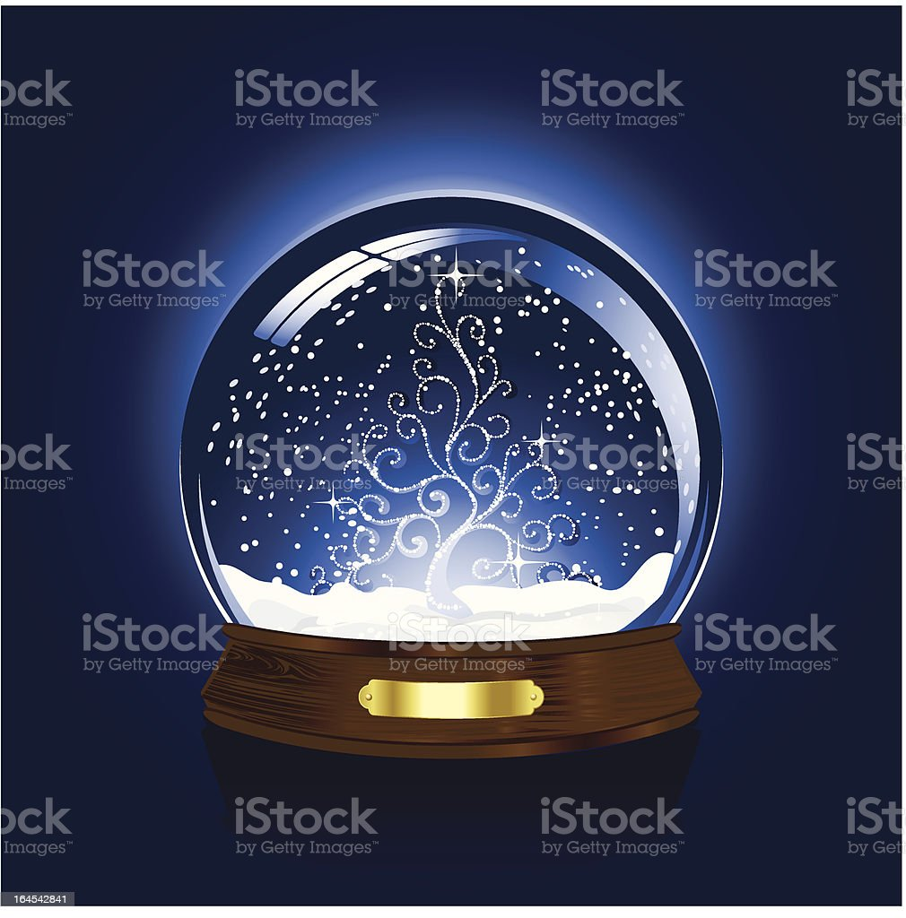 Snow globe with christmas tree royalty-free snow globe with christmas tree stock vector art & more images of backdrop