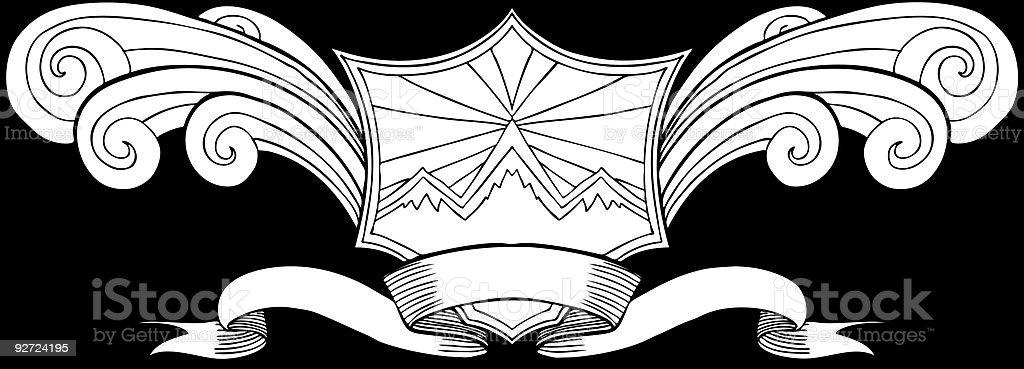 Snow Mountain Crest royalty-free stock vector art