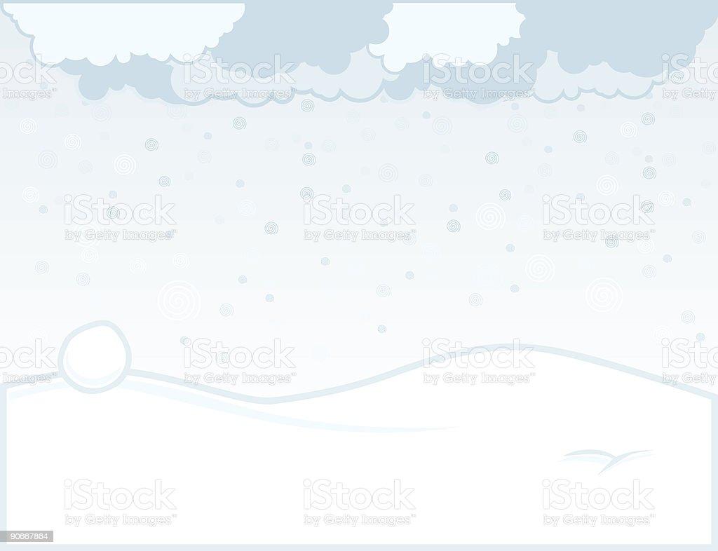 Snow Planet (Vector) royalty-free stock vector art