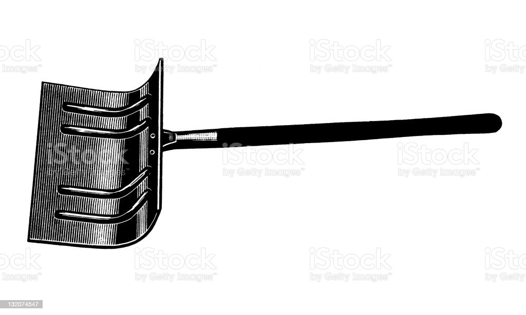 Snow Shovel vector art illustration