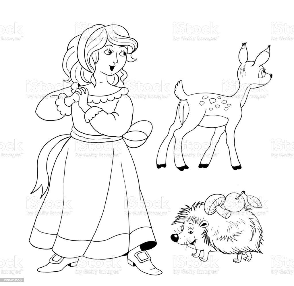 Pamuk Prenses Ve Yedi Cüceler Peri Masalı Boyama Sayfası çocuklar